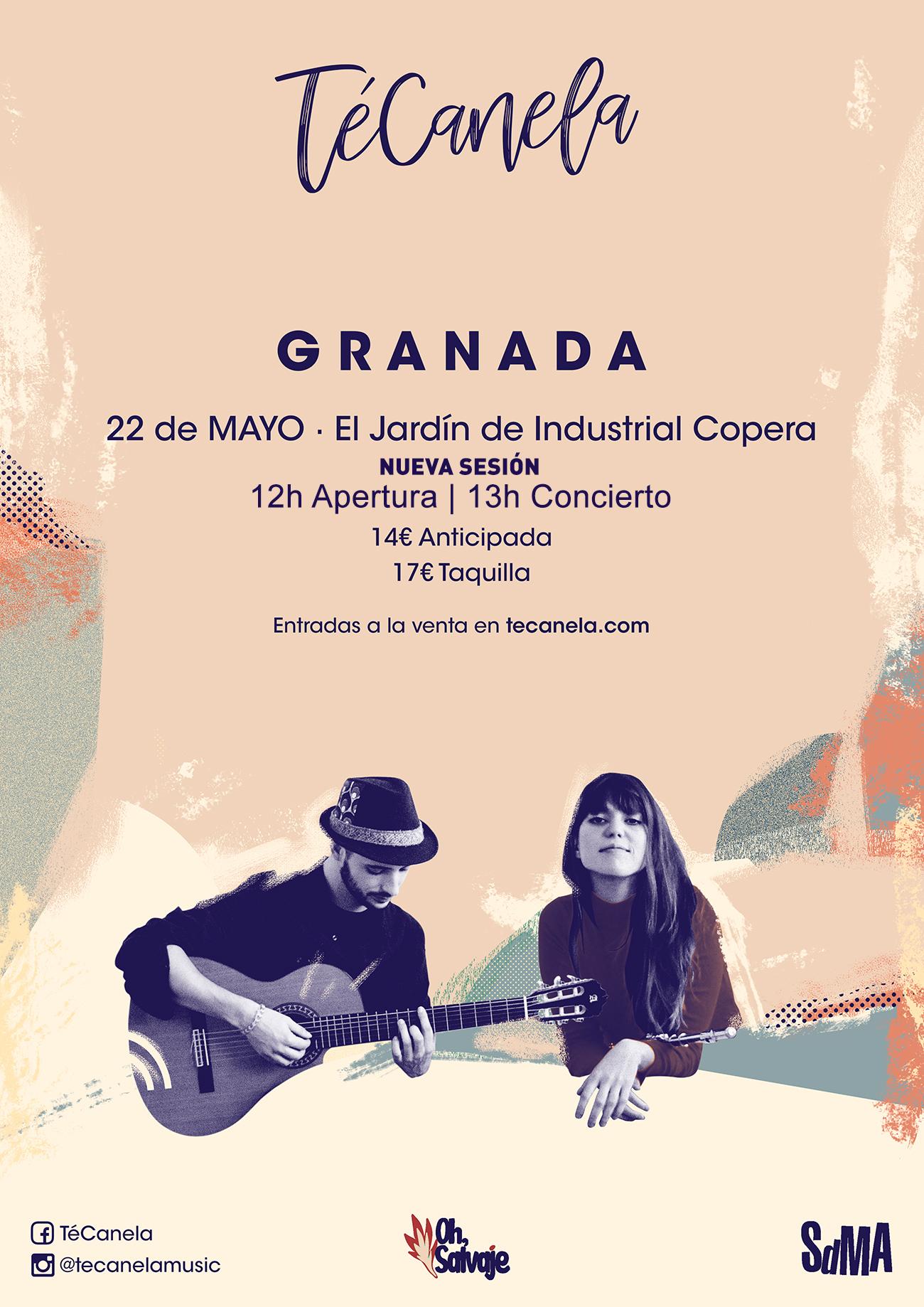 TeCanela Granada Segunda Sesión Oh Salvaje Industrial Copera